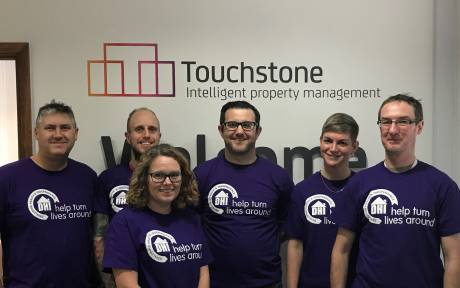 Team from Touchstone run the Bath Half Marathon