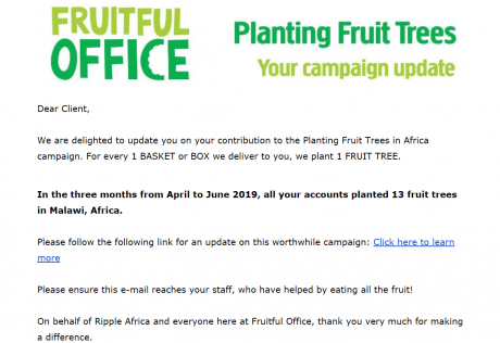 Fruit tree planting in Malawi