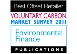 Voted Best Offset Retailer 2011 by Environmental Finance