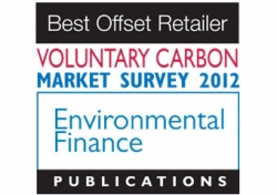 Voted Best Offset Retailer 2012 by Environmental Finance