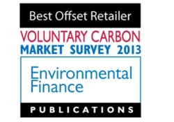 Voted Best Offset Retailer 2013 by Environmental Finance