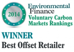 Voted Best Offset Retailer 2014 by Environmental Finance